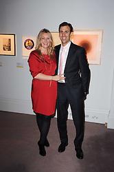 GEORGINA COHEN and JOSHUA SPITZ at the Krug Mindshare auction held at Sotheby's, New Bond Street, London on 1st November 2010.
