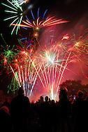 Crowds watching fireworks