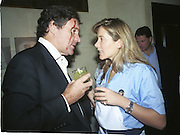 Ian Gowrie-Smith  and  Sammy Wickins. Doctors and Nurses charity party in aid of Cancer Research Fund. Floriana restaurant. 29 November 2000. © Copyright Photograph by Dafydd Jones 66 Stockwell Park Rd. London SW9 0DA Tel 020 7733 0108 www.dafjones.com