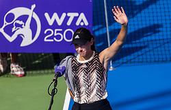 PORTOROZ, SLOVENIA - SEPTEMBER 17:  Kaja Juvan of Slovenia after playing in 3rd Round of the WTA 250 Zavarovalnica Sava Portoroz at SRC Marina, on September 17, 2021 in Portoroz / Portorose, Slovenia. Photo by Vid Ponikvar / Sportida