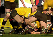 Wycombe, Buckinghamshire, 29th February 2004, Adams Park, [Mandatory Credit; Peter Spurrier/Intersport Images],<br /> 29/02/2004  -  Powergen  Cup - London Wasps v Pertemps Bees <br /> Wasps Harvey Biljon