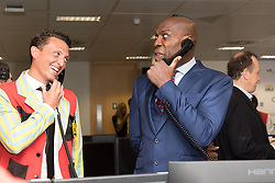 September 11, 2018 - London, London, UK - London, UK.  Frank Bruno at the 14th Annual BGC Charity Day held on the trading floor of BGC Partners in Canary Wharf, to raise money for charitable causes in commemoration of BGC's 658 colleagues and the 61 Eurobrokers employees lost on 9/11. (Credit Image: © Vickie Flores/London News Pictures via ZUMA Wire)