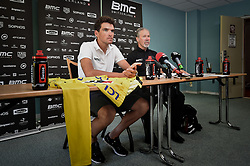 July 16, 2018 - Aix-Les-Bains, FRANCE - Belgian Greg Van Avermaet of BMC Racing and BMC Racing Team President and General Manager Jim Ochowicz talks to the press during the first rest day in the 105th edition of the Tour de France cycling race, in Aix-les-Bains, France, Monday 16 July 2018. This year's Tour de France takes place from July 7th to July 29th. BELGA PHOTO DAVID STOCKMAN (Credit Image: © David Stockman/Belga via ZUMA Press)