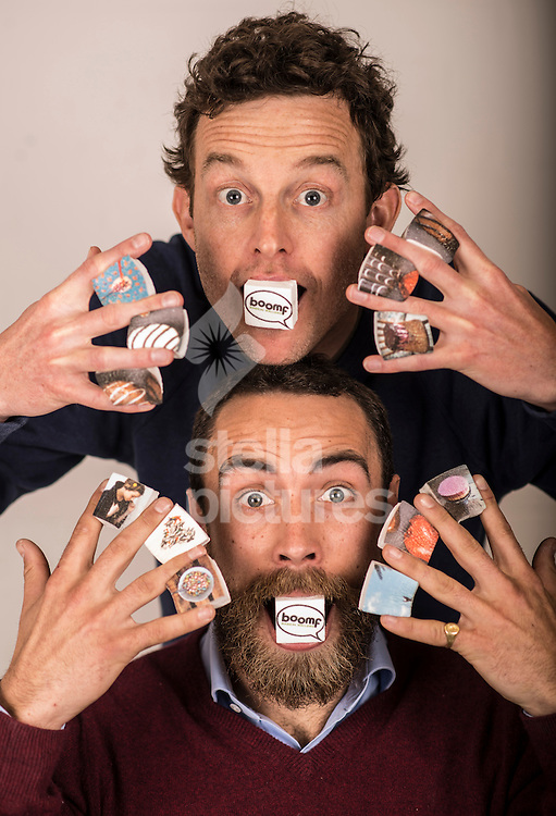 James Middleton (bottom) and Andy Bell from Boomf.<br /> Boomf allows you to print your Instagram images on to marshmallows. <br /> Picture by Daniel Hambury/Stella Pictures Ltd +44 7813 022858<br /> 26/03/2014