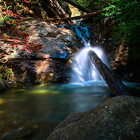Redwood Gulch Waterfall, HDR Exercise. Image(s) taken with a Nikon D3x and 24 mm f/3.5 PC-E lens Singh-Ray filters (ISO 100, 24 mm, f/16, 2.5 to 30 sec). Raw image processed with Capture One Pro, HDR Express: Vivid.