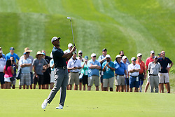 August 9, 2018 - St. Louis, Missouri, United States - Tiger Woods hits a fairway shot during the first round of the 100th PGA Championship at Bellerive Country Club. (Credit Image: © Debby Wong via ZUMA Wire)
