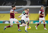 Football - 2020 / 2021 Premier League - Burnley vs. Fulham<br /> <br /> Jay Rodriguez of Burnley tussles with Harrison Reed of Fulham, at Turf Moor.<br /> <br /> <br /> COLORSPORT/ALAN MARTIN