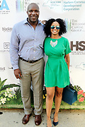May 14, 2014- Harlem, New York-United States: (L-R) Former Professional NFL Player Marvin Washington and Shahana Williams attend the Harlem School of the Arts Jump and Wave Benefit held at the Harlem School of the Arts- The Herb Alpert Center on May 18, 2017 in Harlem, New York City. Harlem School of the Arts enriches the lives of young people and their families through world-class training in and exposure to the arts across multiple disciplines in an environment that emphasizes rigorous training, stimulates creativity, builds self-confidence, and adds a dimension of beauty to their lives.(Photo by Terrence Jennings/terrencejennings.com)