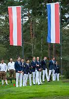 HILVERSUM - Nederlands team.  Prizewinning ceremony.    ELTK Golf 2020 The Dutch Golf Federation (NGF), The European Golf Federation (EGA) and the Hilversumsche Golf Club will organize Team European Championships for men.  COPYRIGHT KOEN SUYK