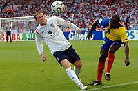 Photo: WROFOTO/Sportsbeat Images.<br />England v Ecuador. 2nd Round, FIFA World Cup 2006. 25/06/2006. <br />England's Wayne Rooney.