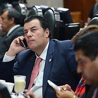 Toluca, México (Octubre 05, 2016).- Cesar Reynaldo Navarro, Diputado Local por el PRI, durante la sesión deliberante del tercer periodo ordinario en la Cámara de diputado del Estado de México. Agencia MVT / Arturo Hernández.
