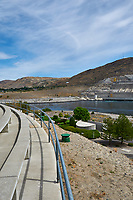 Grand Coulee Dam Panorama. One of seven images taken with a Nikon D300 camera and 18-200 mm VR lens (ISO 200, 18 mm, f/11, 1/500 sec). Raw images processed with Capture One Pro, Photoshop and CC, NIK Color Efex. Panorama created using AutoPano Pro.
