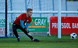 BANGOR, WALES - Saturday, November 17, 2018: Wales' goalkeeper George Ratcliffe during the pre-match warm-up before the UEFA Under-19 Championship 2019 Qualifying Group 4 match between Sweden and Wales at the Nantporth Stadium. (Pic by Paul Greenwood/Propaganda)