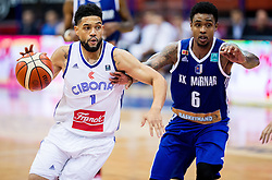 Scott Reynolds of Cibona  vs Lamont Jones of KK Mornar during basketball match between KK Cibona Zagreb (CRO) and KK Mornar (MNE) in Round #4 of FIBA Champions League 2016/17, on November 9, 2016 in Drazen Petrovic Basketball center, Zagreb, Croatia. Photo by Vid Ponikvar / Sportida