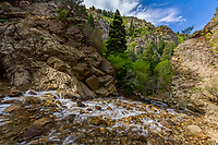 Water rushes down Adams Canyon near Layton, Utah on a warm Spring morning.