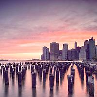 New York City skyline from Brooklyn Bridge Park.