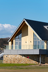 View new club house (opened April 2018)  at Carnoustie Golf Links in Carnoustie, Angus, Scotland, UK. Carnoustie is venue for the 147th Open Championship in 2018