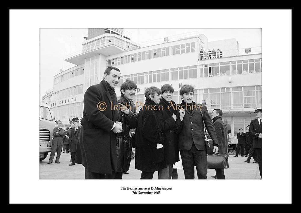 The Beatles arrive at Dublin Airport<br /> 7th November 1963