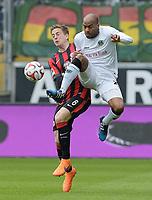 Fotball<br /> Tyskland<br /> 04.04.2015<br /> Foto: Witters/Digitalsport<br /> NORWAY ONLY<br /> <br /> v.l. Bastian Oczipka (Frankfurt), Jimmy Briand<br /> Fussball, Bundesliga, Eintracht Frankfurt - Hannover 96