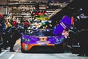 June 10-16, 2019: 24 hours of Le Mans. 85 KEATING MOTORSPORTS, FORD GT, Ben KEATING, Jeroen BLEEKEMOLEN, Felipe FRAGA, WYNN RACING pitstop