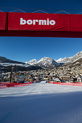 28.12.2013, Stelvio, Bormio, ITA, FIS Ski Weltcup, Bormio, Abfahrt, Herren, 2. Traininglauf, im Bild Uebersicht Zielraum // overview of the finish area  in action during mens 2nd downhill practice of the Bormio FIS Ski Alpine World Cup at the Stelvio Course in Bormio, Italy on 2012/12/28. EXPA Pictures © 2013, PhotoCredit: EXPA/ Johann Groder