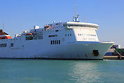 Trasmediterranea ferry ship the Albayzin, port of Cadiz, Spain