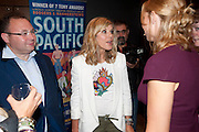 RITA SIMONS; SAMANTHA WOMACK, South Pacific First night party. The Barbican. London. 23 August 2011. <br /> <br />  , -DO NOT ARCHIVE-© Copyright Photograph by Dafydd Jones. 248 Clapham Rd. London SW9 0PZ. Tel 0207 820 0771. www.dafjones.com.
