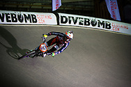 #32 (CRAIN Brooke) USA leads her heat with a good margin at the UCI BMX Supercross World Cup in Manchester, UK