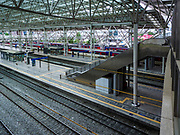 SEOUL, SOUTH KOREA: The platforms where trains arrive and depart from at Seoul Station, the largest train station in South Korea.      PHOTO BY JACK KURTZ