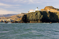 Point Bonita Lighthouse in the Golden Gate National Recreation Area in San Francisco, California.