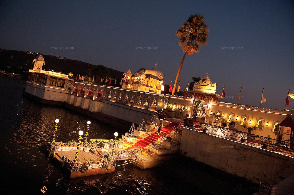 Wedding arrangement for a destination wedding in Udaipur, Rajasthan