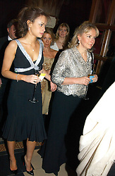 Left to right, MISS CAMILLA AL FAYED and her mother MRS MOHAMED AL FAYED at The Magic of Winter ball in aid of the charity KIDS held at The Royal Courts of Justice, London on 2nd Ferbruary 2005.<br /><br />NON EXCLUSIVE - WORLD RIGHTS