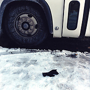 Black Glove (Possibly Outbrook)<br /> SW corner of 106th St and Broadway (At M 60 Bus Stop) 17-March, 2003, 8:50 AM