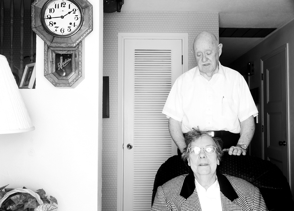 Ivan Mahoney and his wife, Dot, have enjoyed more than 60 years of life together, though Dot now suffers from the ravages of Alzheimer's Disease. Sunday, Dec. 26, 2010.