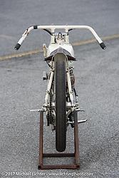 Australian Brook James' 1924 Harley-Davidson racer built by Matt Walksler at Billy Lane's Sons of Speed vintage motorcycle racing during Biketoberfest. Daytona Beach, FL, USA. Saturday October 21, 2017. Photography ©2017 Michael Lichter.