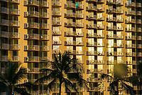 Sunlight Reflecting off Hotel Windows, Waikiki