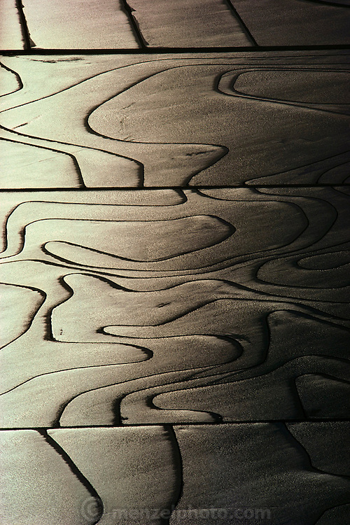 Rice: Aerial of flooded rice fields near Richvale, California, USA. 1980