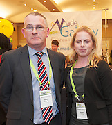 20/11/2014  repro free  Thomas Geraghty and Rachel Davoran from Charles Hughes ltd. at the Galway Bay Hotel for the two day conference Meet West attracting over 400 business people from around Ireland for the largest networking event in the Country . Photo:Andrew Downes