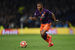 09.04.2019, White Hart Lane, London, ENG, UEFA CL, Tottenham Hotspur vs Manchester City, Viertelfinale, Hinspiel, im Bild Raheem Sterling of Manchester City // Raheem Sterling of Manchester City during the UEFA Champions League quarterfinals, 1st leg match between Tottenham Hotspur and Manchester City at the White Hart Lane in London, England on 2019/04/09. EXPA Pictures © 2019, PhotoCredit: EXPA/ Focus Images/ Martyn Haworth<br /> <br /> *****ATTENTION - for AUT, GER, FRA, ITA, SUI, POL, CRO, SLO only*****
