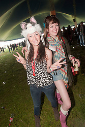 Fans near the  Goldenvoice Arena on Friday night..RockNess 2011, the annual music festival which takes place in Scotland at Clune Farm, Dores, on the banks of Loch Ness near Inverness..Pic ©2011 Michael Schofield. All Rights Reserved..