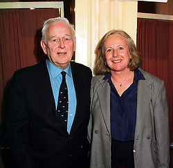MR & MRS NORRIS McWHIRTER he compiles the Guinness Book of Records, at a luncheon in London on 23rd February 2000.OBJ 81