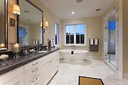 Designer Bathroom in Custom Built Home