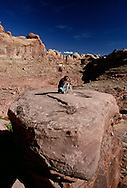 Photographer, Kane Springs Canyon, SW of Moad, UT<br /> MODEL RELEASED