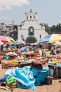 Mexico,Chapas,Il mercato di San Juan Chamula.