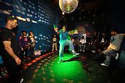 People dancing, partying, and have a good time at Lee Jones's Sundae dance party in 2011. This weekly event is held at Club Shampoo Philadelphia each Sunday. Photos in this group are from the grand opening 2011 outdoor party season.