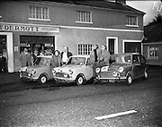 14/11/1959<br /> 11/14/1959<br /> 14 November 1959<br /> Austin 7's that took part in the Cork Rally, assembled at Jobestown House, Tallaght, Co. Dublin, before the start. Car 22 Ralf Meyer and Cecil Vard, Car 18 Shelie O'Cleary and Mike Ivis, Car 26 Jimmy Millard and Dudley Reynolds.