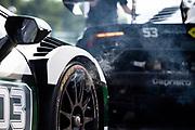 June 6, 2021. Lamborghini Super Trofeo, VIR: 03 Randy Sellari, Wayne Taylor Racing WTR, Lamborghini Paramus, Lamborghini Huracan Super Trofeo EVO smoke detail