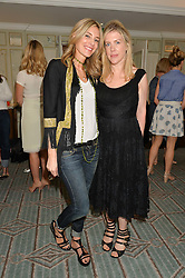 Left to right, KIM HERSOV and FIONA LEAHY at a breakfast hosted by Halcyon Days at Fortnum & Mason, 181 Piccadilly, London on 8th July 2014.