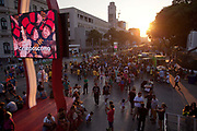 People from all over the World have come down to the Olympic boulevard to enjoy the games at this live site, Praca Maua and Praca XV, Centro Rio de Janeiro, Rio 2016, Brazil.