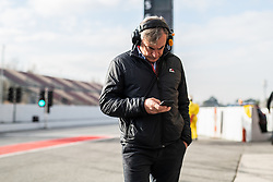 February 18, 2019 - Montmelo, BARCELONA, Spain - Circuit de Barcelona Catalunya, BARCELONA, 18 of february 2019. Carlos Sainz, Dakar champion in the pit lane of Circuit de Barcelona Catalunya during the first day of Test at Circuit de Barcelona Catalunya (Credit Image: © AFP7 via ZUMA Wire)